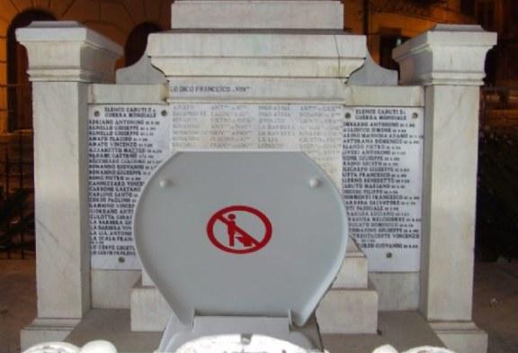 Monumento ai caduti… o latrina pubblica!