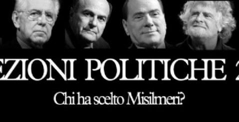 Politiche 2013. I dati ufficiali di Misilmeri: Boom di Berlusconi e Grillo