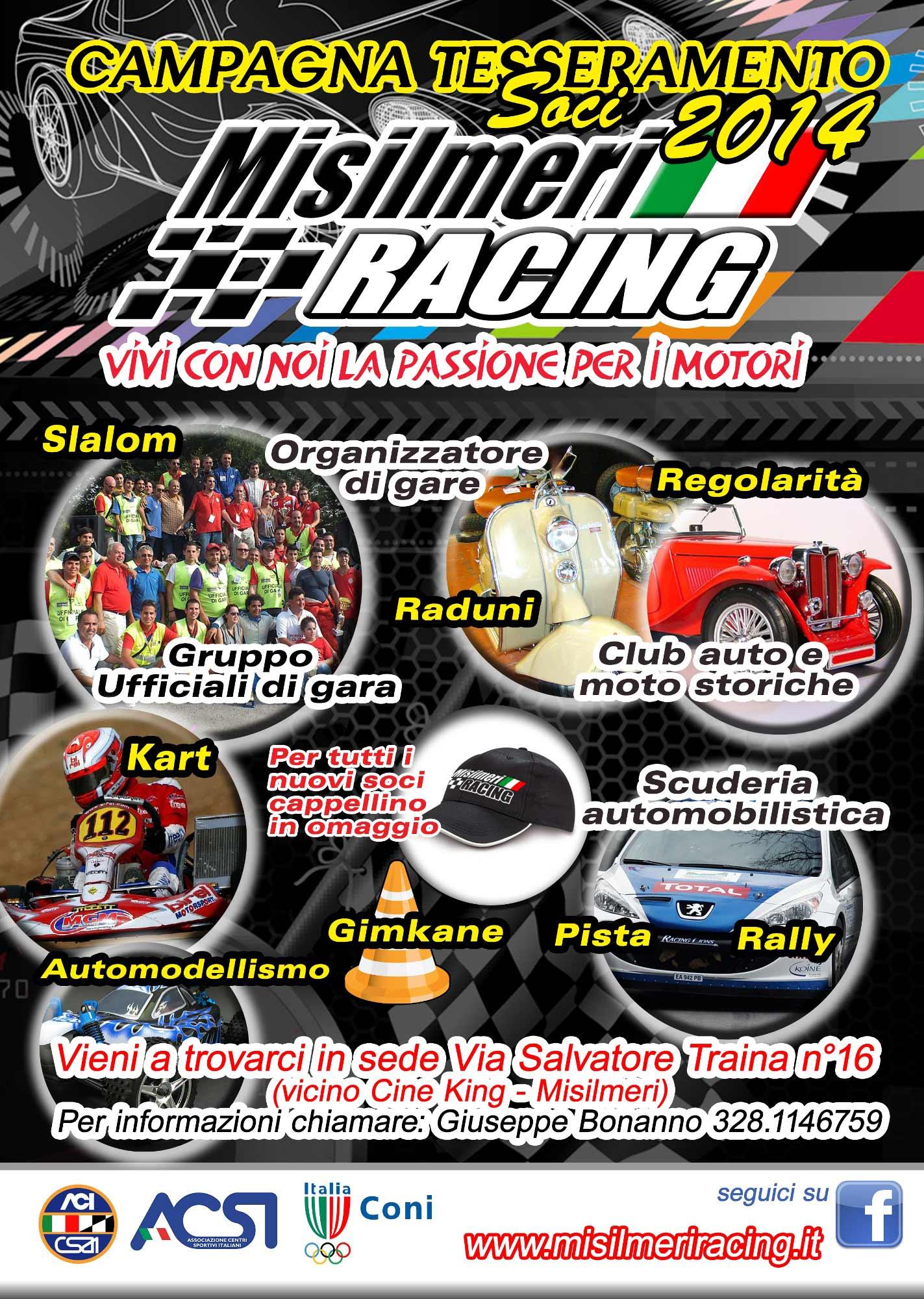 Misilmeri Racing: aperta la campagna soci 2014