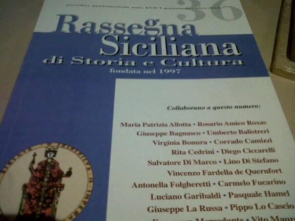 """Nasce la nuova """"Rassegna siciliana di storia e cultura"""""""