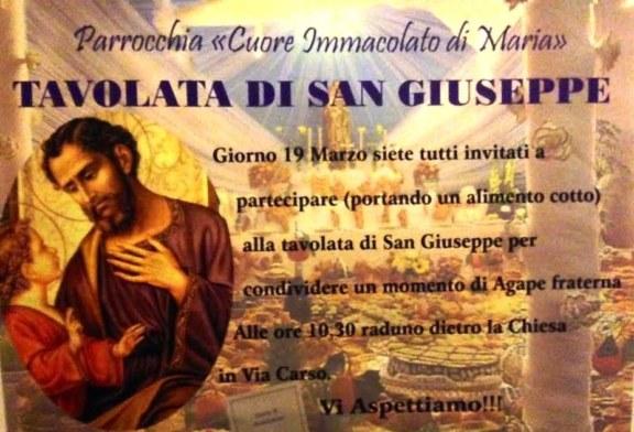 Chiesa nuova, antica tradizione: la tavolata di San Giuseppe
