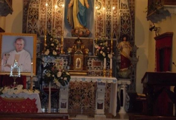 Le reliquie del beato Pino Puglisi a Misilmeri