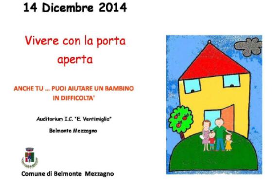 Vivere con la porta aperta, un convegno a Belmonte