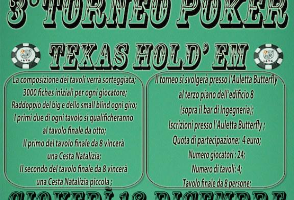 La Butterfly organizza il 3°Torneo di Poker Texas Hold'Em