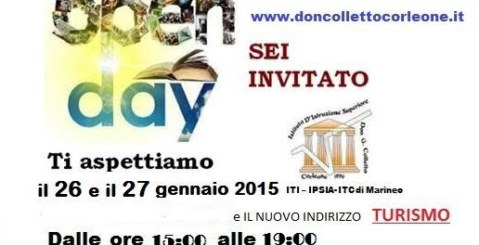OpenDay 26 e 27 gennaio all'istituto di Marineo