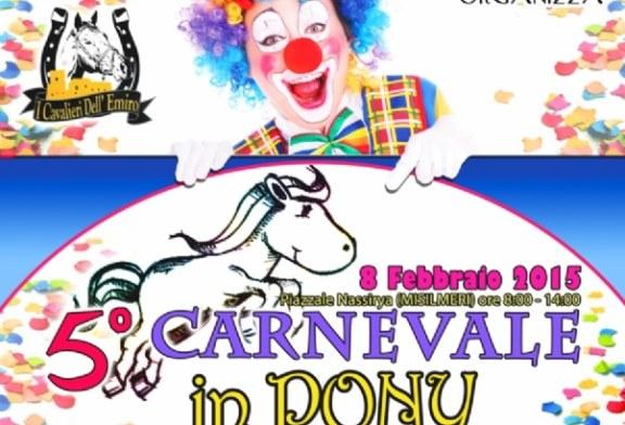 Domenica sarà Carnevale in Pony, se piove pronto il piano B
