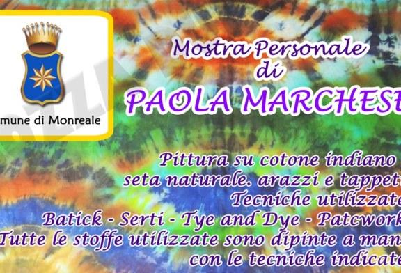 A Monreale una mostra personale di Paola Marchese