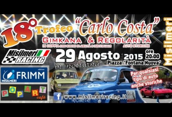 """Stasera, la 18^ Gimkana """"Trofeo Carlo Costa"""" per la prima volta in notturna"""