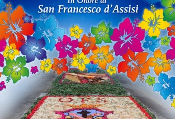 Festeggiamenti di San Francesco a Misilmeri. Sabato la 3^ edizione dell'infiorata