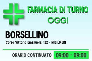 Farmacia di turno – BORSELLINO