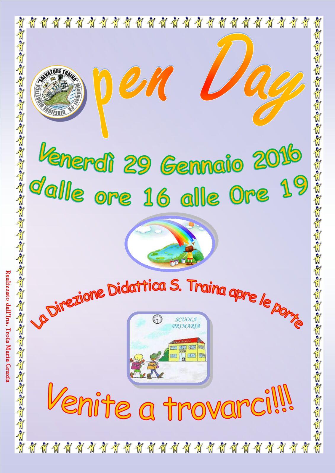 Open Day: La Direzione Didattica S.Traina apre le porte