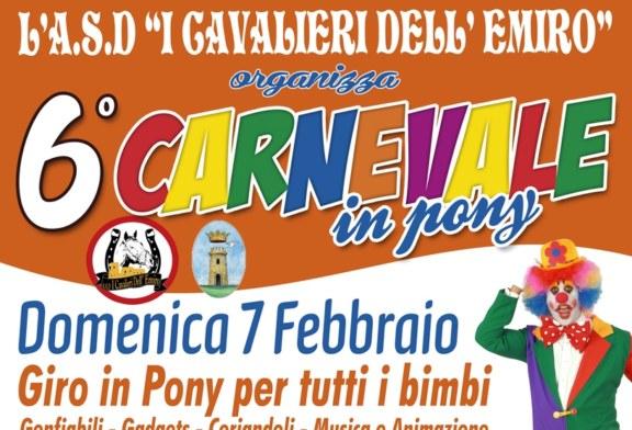 Domenica 7 febbraio sarà Carnevale in pony