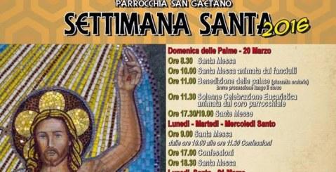 Le celebrazioni della Settimana Santa a San Gaetano