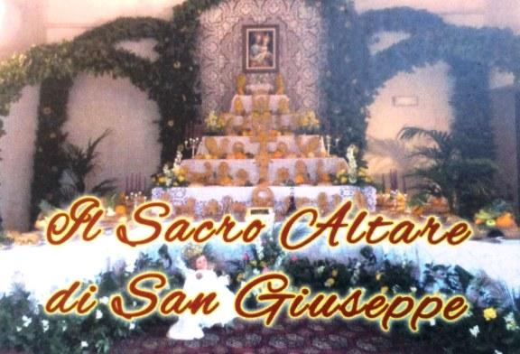 L'altare di San Giuseppe della famiglia Caldarera
