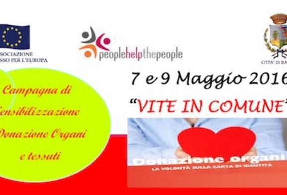 """""""Vite in comune"""", campagna di sensibilizzazione per la donazione di organi"""