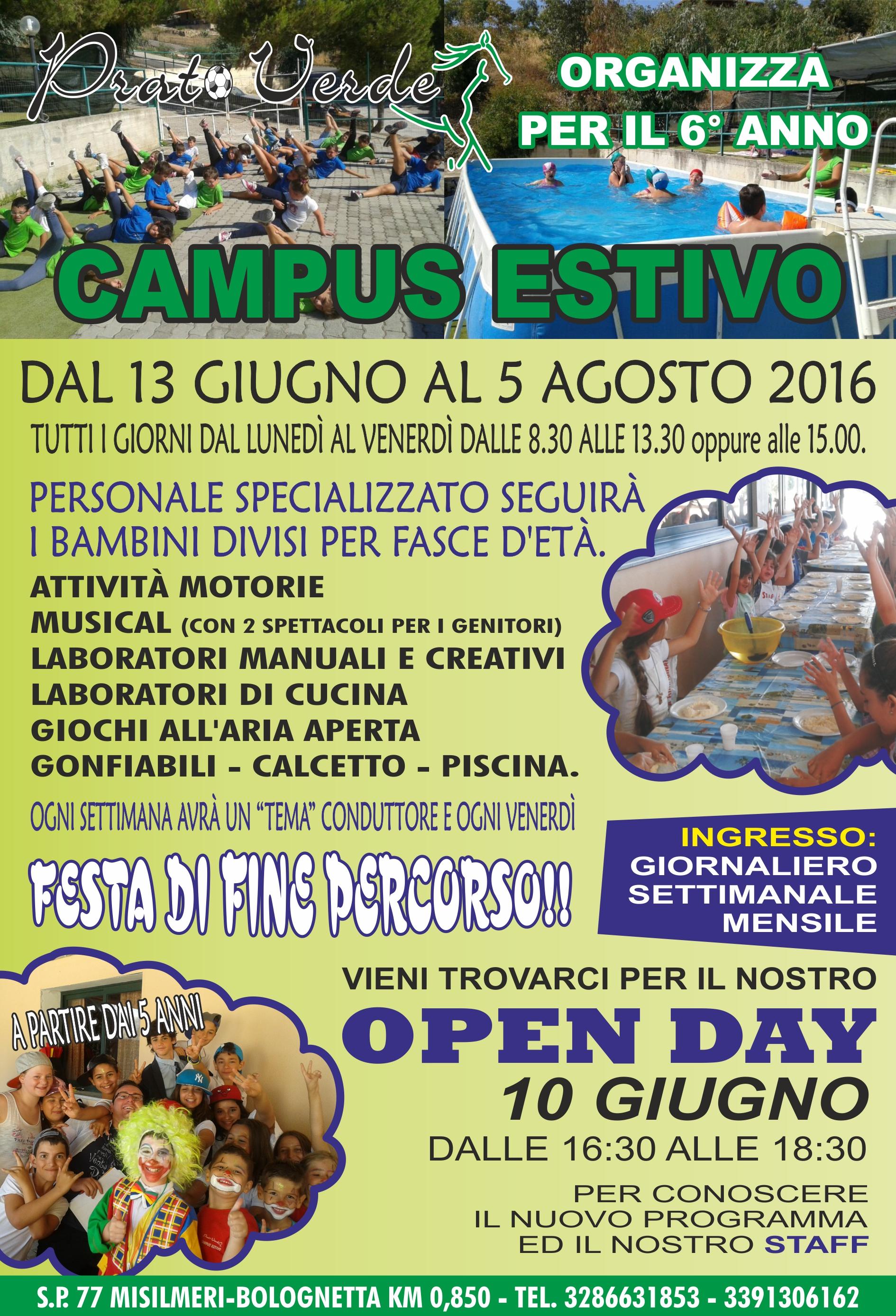 Campus Estivo – Prato Verde