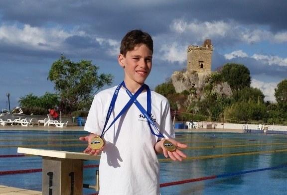 Nuoto, medaglie d'oro per Francesco Arnone ai Campionati Regionali