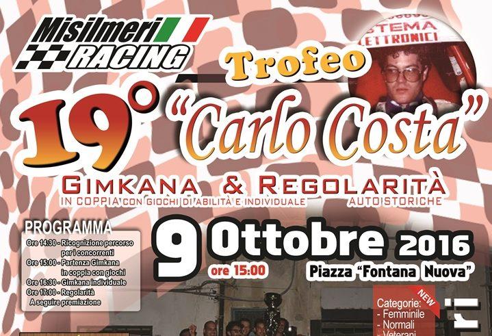 """Domenica 9 ottobre la Gimkana """"Carlo Costa"""""""