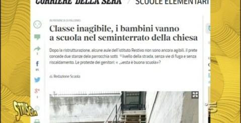 Scuola di Portella di Mare, la vergogna anche su Striscia la Notizia