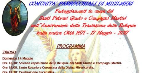Anniversario della traslazione delle reliquie di San Giusto, ecco il programma