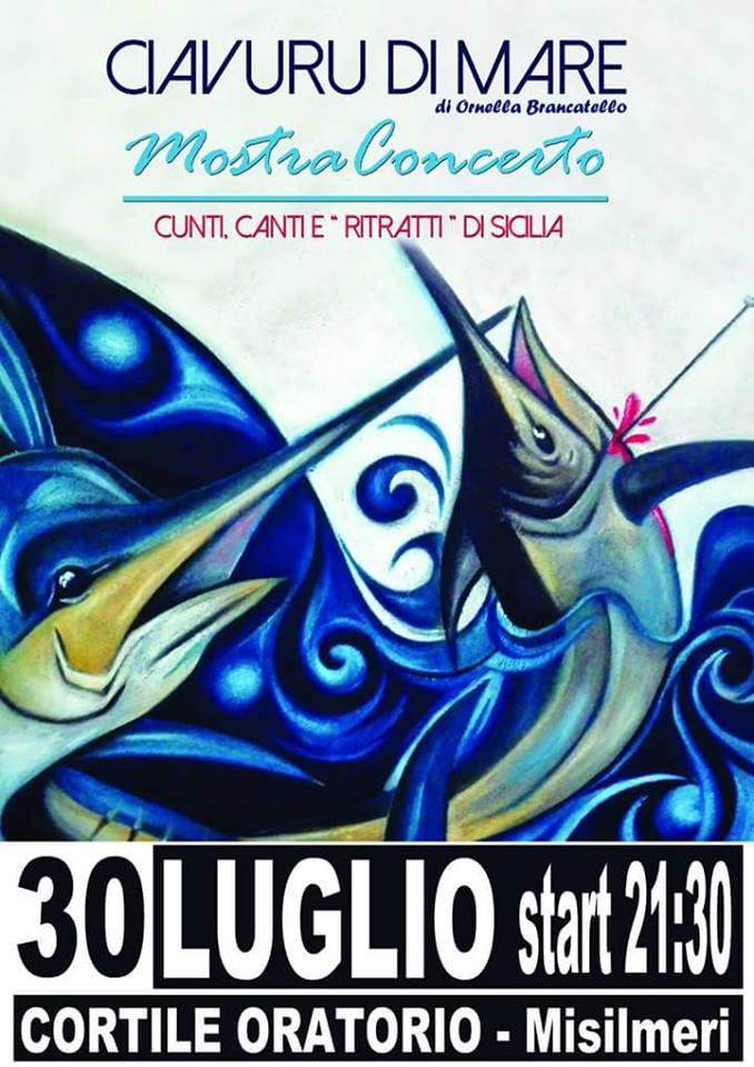 """""""Ciavuru di Mare"""", arriva la mostra-concerto di Ornella Brancatello"""