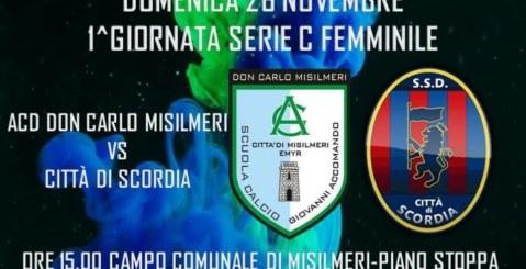 Calcio femminile, prima di campionato per la Don Carlo Misilmeri