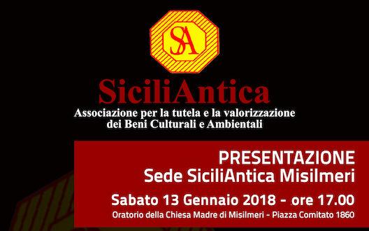 SiciliAntica: Sabato la presentazione della sede di Misilmeri