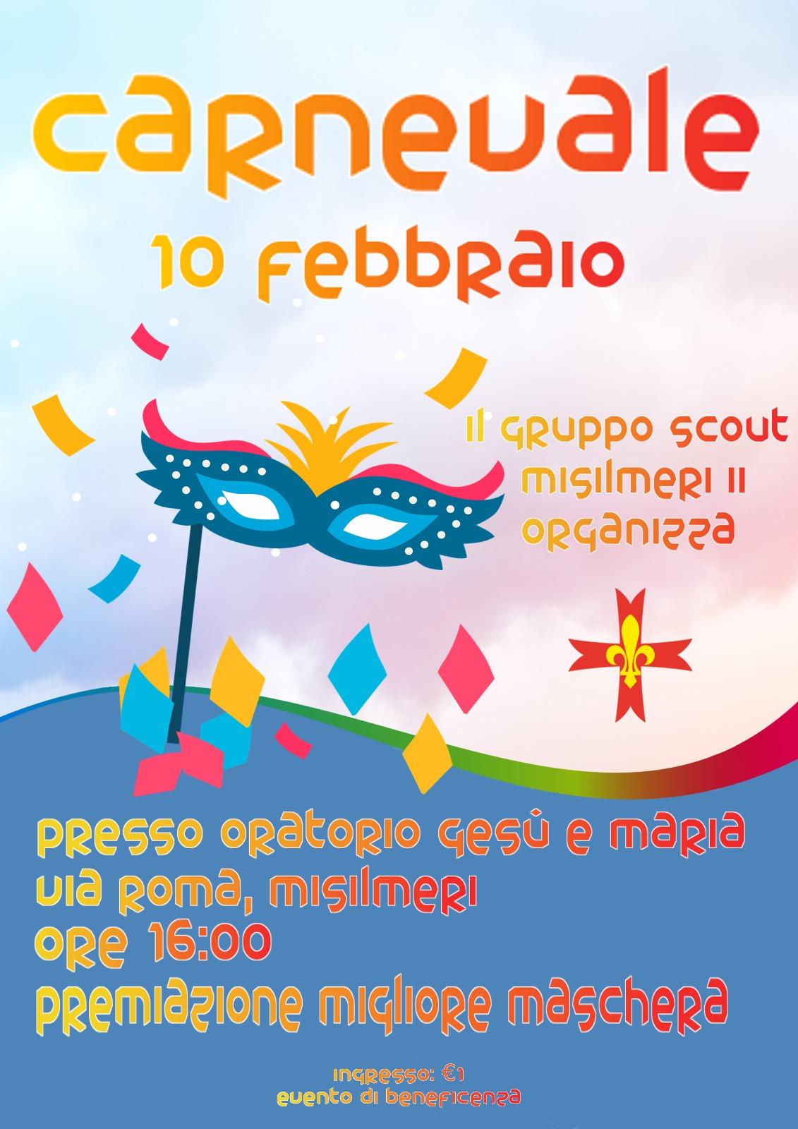Oggi il Carnevale del Gruppo Scout Misilmeri II