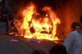 Macchina in fiamme, paura nel pomeriggio a Misilmeri