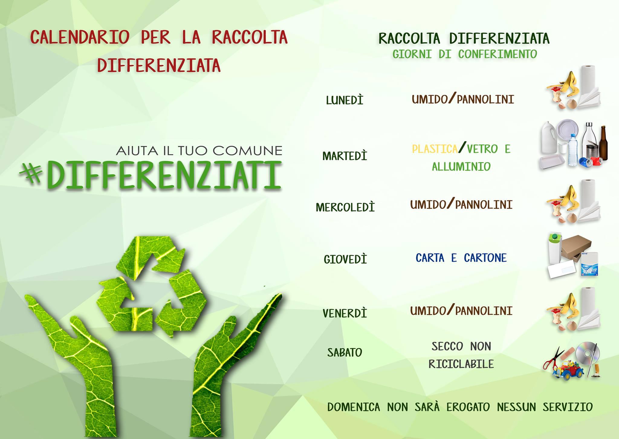 Raccolta Differenziata Palermo Calendario.Da Lunedi Inizia La Raccolta Differenziata Misilmeri Blog