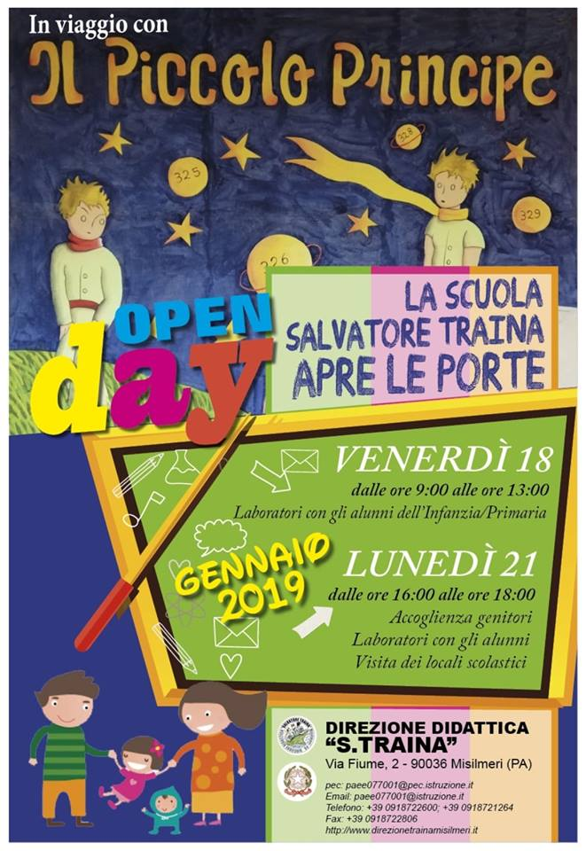 Arriva l'Open Day della Scuola primaria S. Traina