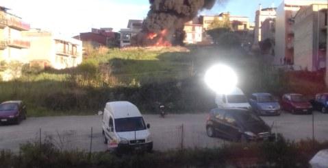 Incendio nel centro di Misilmeri