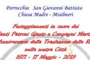 Al via i festeggiamenti per il 384° anniversario della traslazione delle reliquie di San Giusto