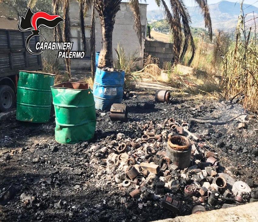 Sorpreso a bruciare rifiuti: arrestato 56enne
