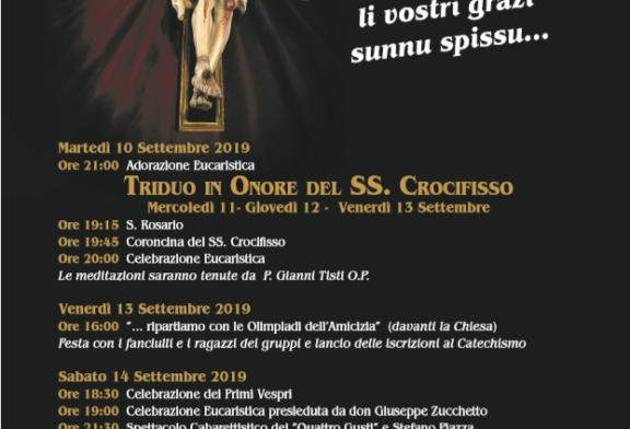 Misilmeri celebra il suo Signore, festeggiamenti del SS. Crocifisso