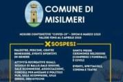 Coronavirus. Le misure prese nel comune di Misilmeri. Bar chiusi alle 20 !!!