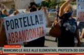 Caos scuola: protesta a Portella di Mare