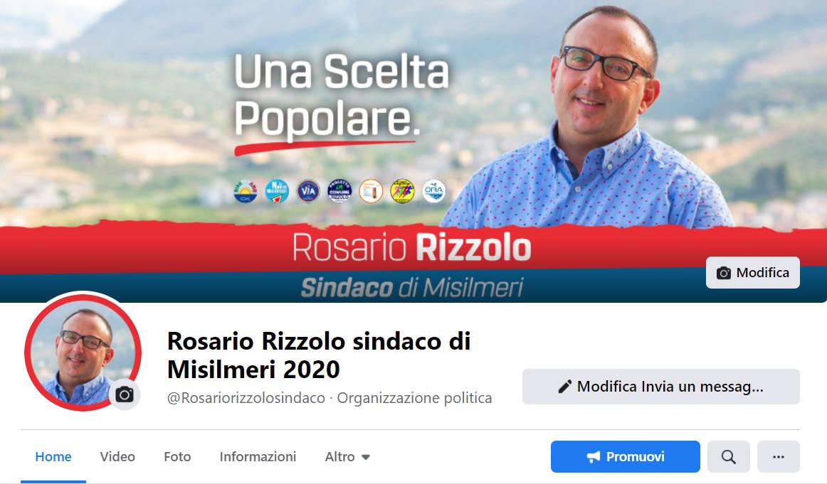 Oscurata la pagina Facebook del sindaco