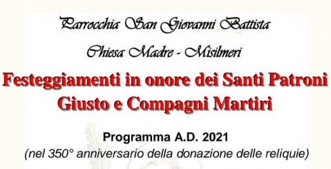 Al via i festeggiamenti in onore dei Santi Patroni Giusto e Compagni Martiri